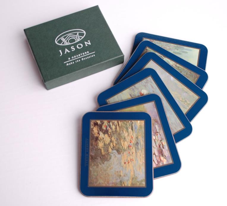 Claude Monet Artwork Boxed Gift Jason Coasters - Brand New!