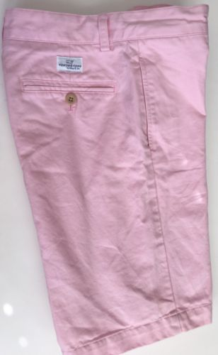 VINEYARD VINES Boys Pink Classic Club Shorts Size 14 Flat Front