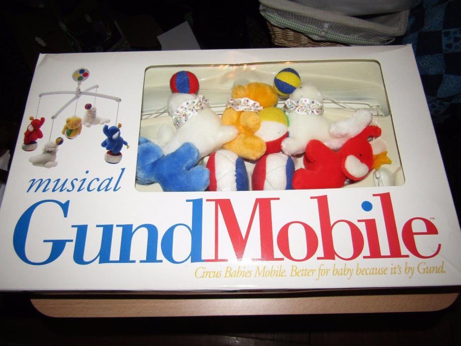Gund Musical Crib Mobile - Circus Babies - Rare - Baby Item