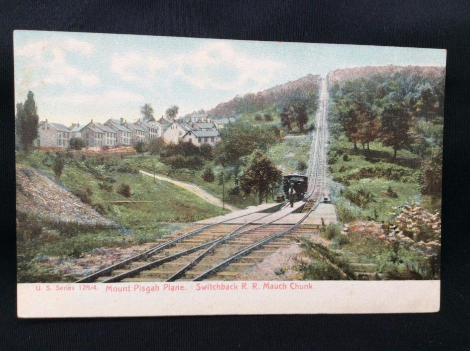 P18 1900's Mount MT Pisgah Plane Switchback RR Mauch Chunk PA Railroad Post Card