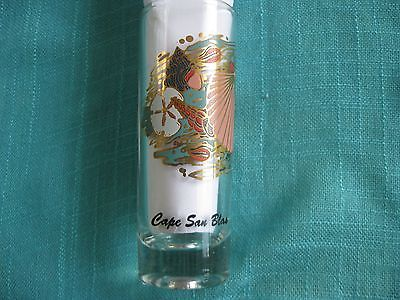 Beautiful Shooter-Type Shot Glass from Cape San Blas, Florida