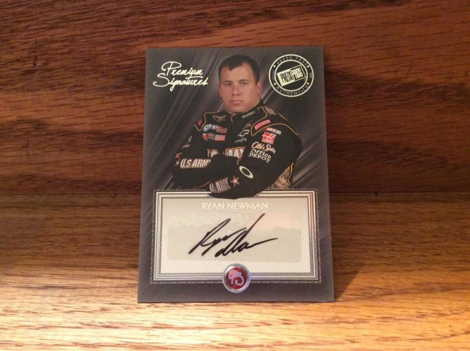 2010 Press Pass Premium of Ryan Newman.
