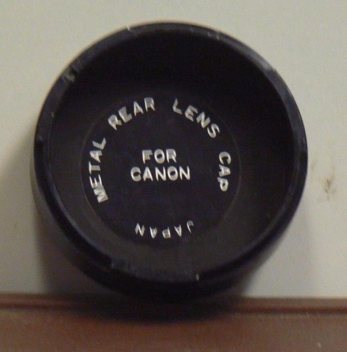 Vintage Canon Rear Metal Lens Cap Lt42
