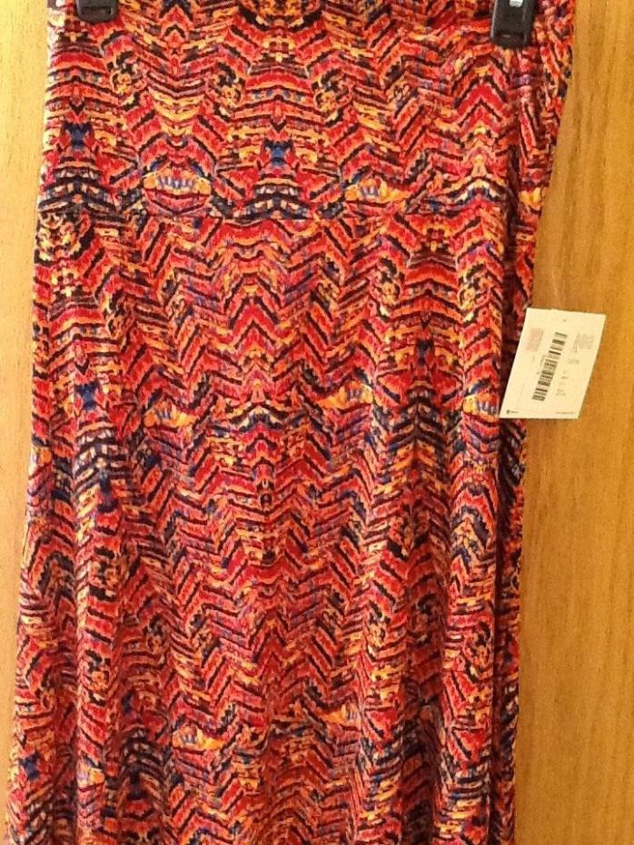 LULAROE MAXI SKIRT small  NEW  With tags NWT in red, orange, black, blue, yellow