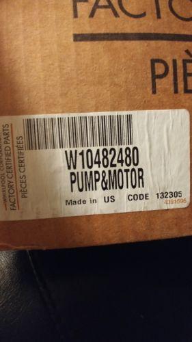 NEW IN BOX WHIRLPOOL W10482480 DISHWASHER MOTOR AND PUMP BRAND MEW HALF PRICE!