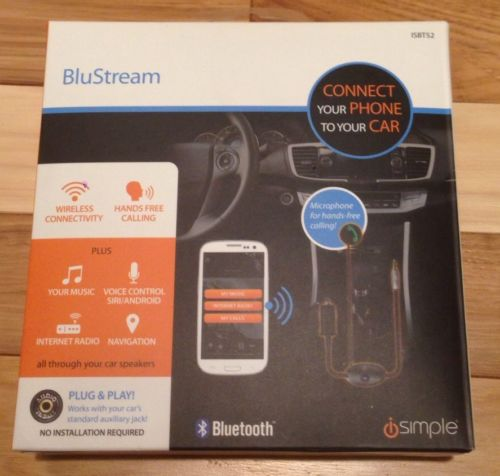 iSimple ISBT52 BluStream Bluetooth Hands-free for Smartphones iPhone Plug & Play