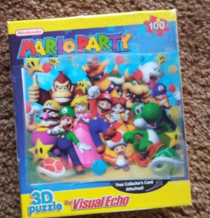 NEW Visual Echo 3D Effects Nintendo Mario Party 100 pc. puzzle HCAY0061