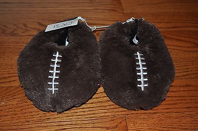 NWOT!! BOYS THE CHILDREN'S PLACE Brown Football Slippers Size 8-9 M Toddler