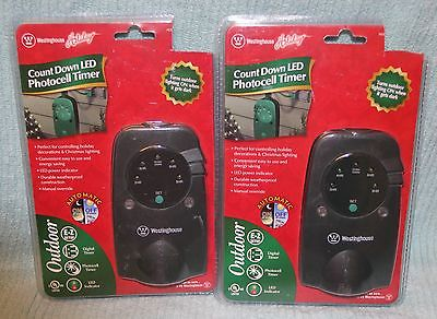 (2) Westinghouse Count Down LED Photocell Timer T28457
