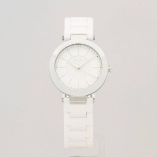 NEW AUTHENTIC DKNY STANHOPE WHITE CERAMIC SILVER LADIES WOMEN'S NY2291 WATCH