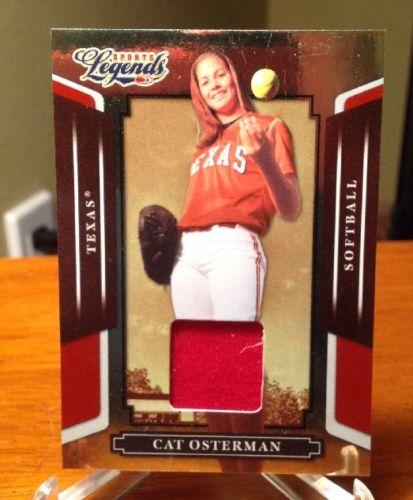 2008 Donruss Sports Legends Cat Osterman Relic #'d/500 Texas US Softball