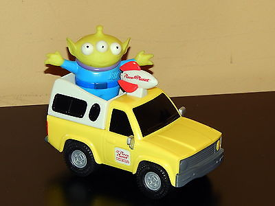 DISNEY PIXAR TOY STORY PULL& GO PIZZA PLANET DELIVERY SHUTTLE TRUCK + ALIEN
