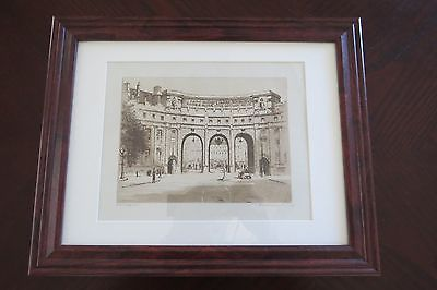 Admiralty Arch, London - Beautiful Etching Print - Titled & Signed ca 1930