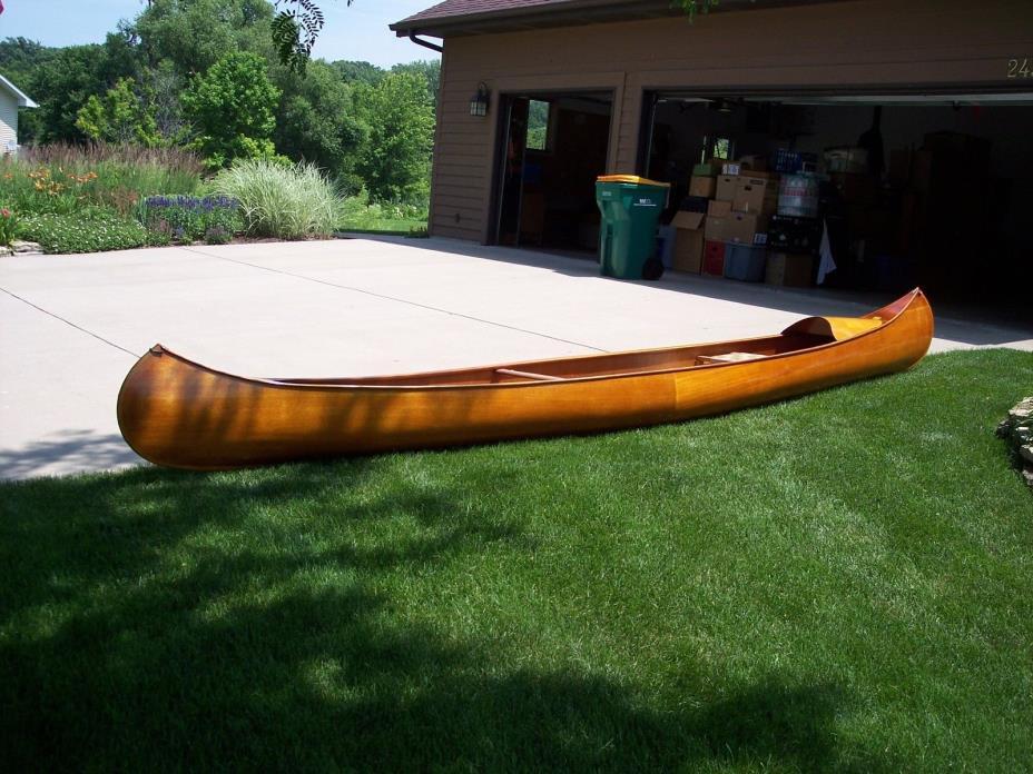 Antique Wood Canoe