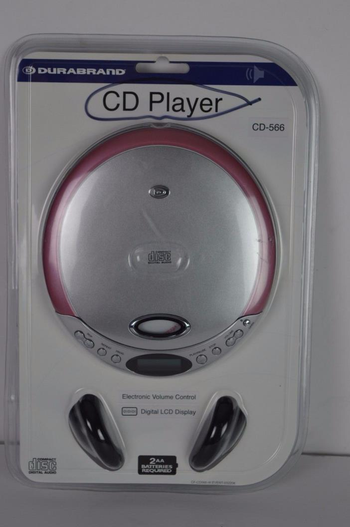 Durabrand CD-566 Portable Personal CD Player With Headphones NIP FREE SHIPPING