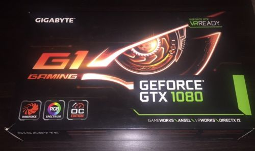 GIGABYTE GeForce GTX 1080 G1 8GD Gaming GV-N1080G1 GAMING Video Graphics Card