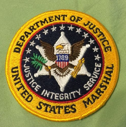 US  MARSHAL DEPARTMENT OF JUSTICE SHOULDER SERVICE PATCH (4