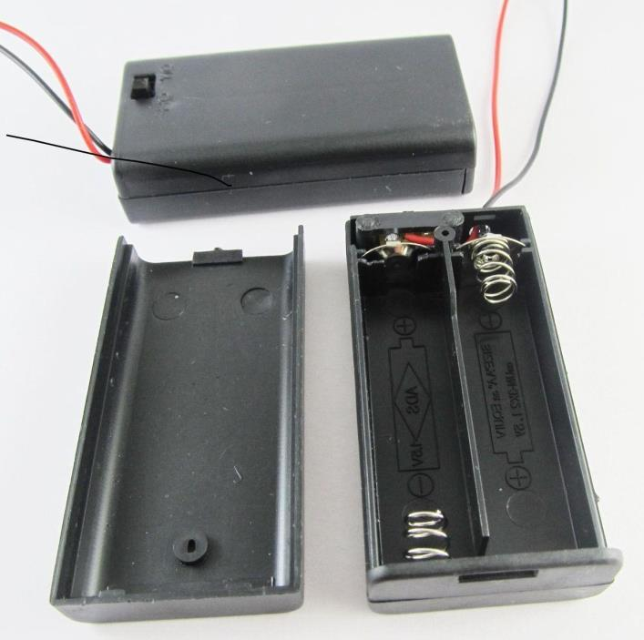 1 2XAA DIY Battery Holder Case Box 3V With Cover, On/Off Switch, 5