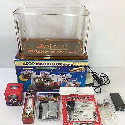 AZOO MAGIC BOX 2.5 GALLON (YELLOW) AQUARIUM WITH EXTRAS