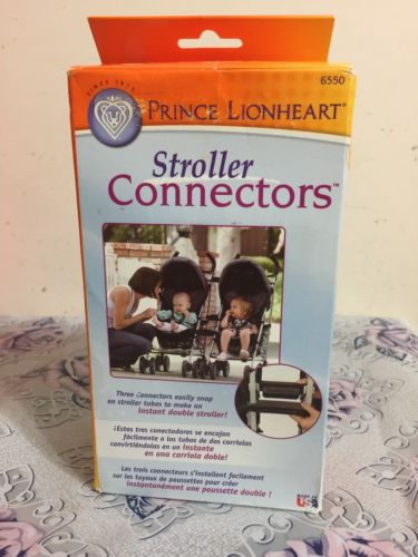 Prince Lionheart Stroller Connectors - New - White - FREE SHIPPING