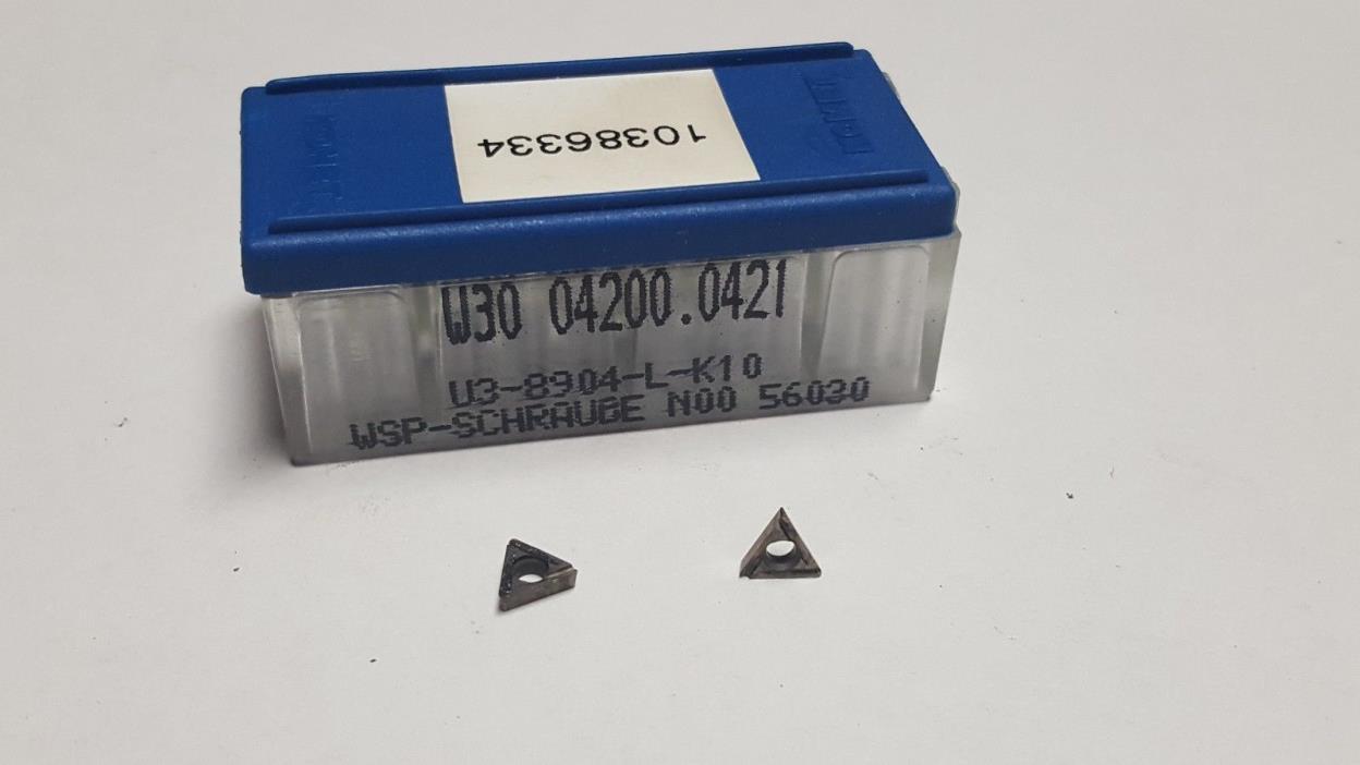 (Lot of 8) KOMET W30 04200.0421 K10 (U3-8904-L-K10) Carbide Inserts