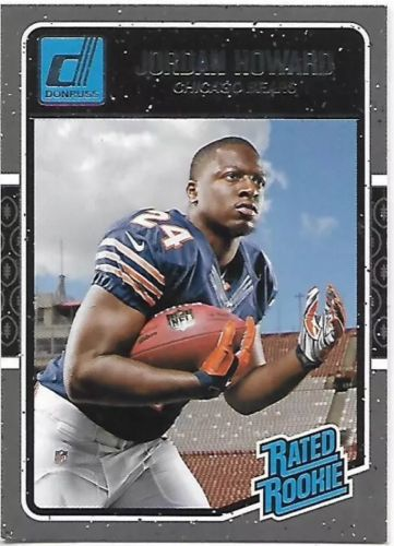 Jordan Howard 2016 donruss rated rookie RB chicago bears #377