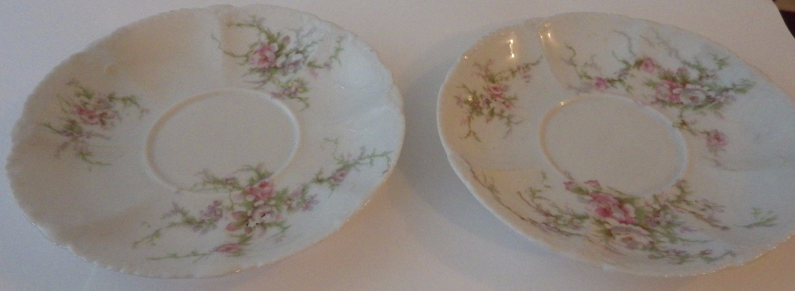 Price Reduced 2 Saucers - Antique Theodore Haviland Limoges France W - Wanamaker