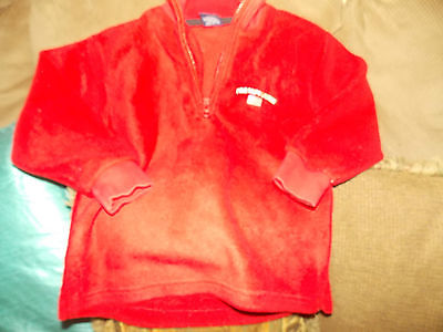 Polo Ralph lauren Kids Red L/S Fleece Top ,Size 4