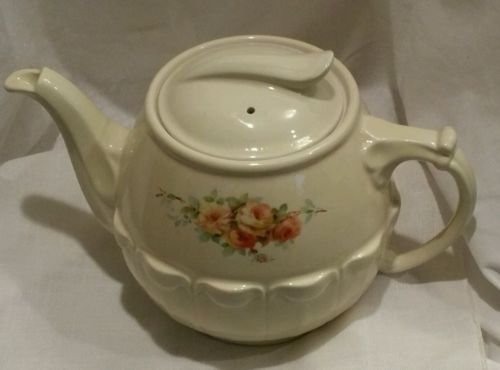 Vintage Hall China/Enterprise Aluminum Drip-O-lator Coffeepot in Waverly Pattern
