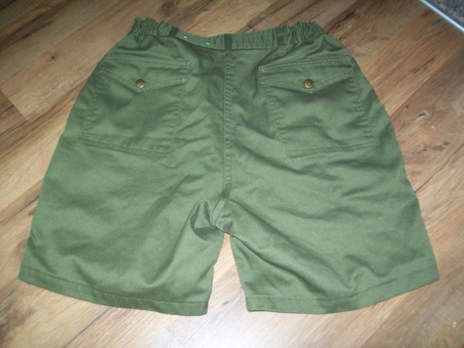BOY SCOUTS OF AMERICA Men's Size 32 Waist Green Official Uniform BSA Shorts