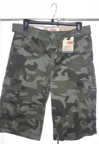 NEW boys Levis camo shorts SIZE 20 REG  30