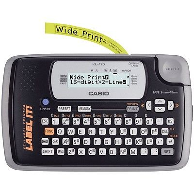 Casio Kl120l Portable Thermal Label Maker Csokl120l