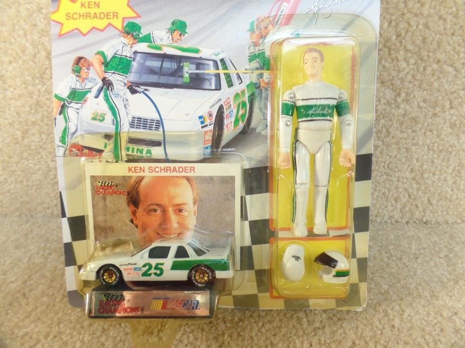 1992 Racing Champions 1/64 Diecast & Action Figure NASCAR Ken Schrader Lumina c