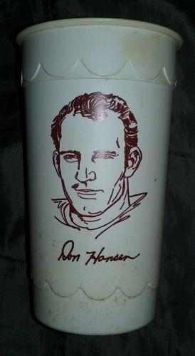RARE 1972 ATLANTA FALCONS DON HANSEN BURGER KING ICE MILK CUP