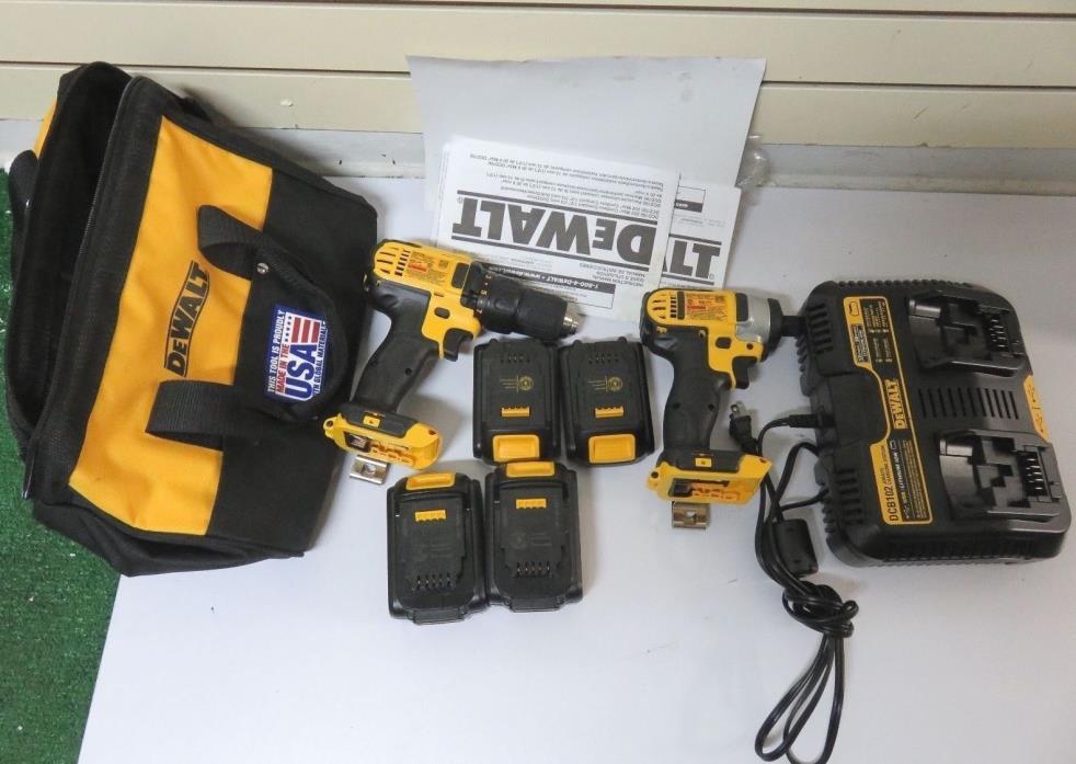 DEWALT combo kit : DCD780, DCF885, DCB 102, 2pack DCB201, 2pack DCB200