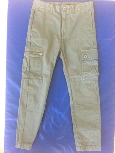 Boys Jcrew Crewcuts Green Cargo Pants 8