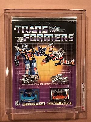 Transformers Original G1 AFA 90 Pre Rub Frenzy Laserbeak MOSC 90/85/90 Cassettes