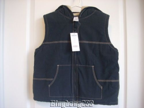 Gymboree AMERICAN HERITAGE Navy Blue Lined Hooded Boy Vest Size Medium M 7 - 8