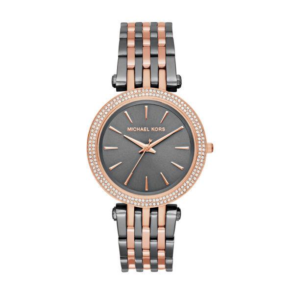 *BRAND NEW* Michael Kors Women's Gray Crystal Dial Two-Tone Quartz Watch MK3584
