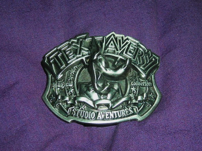 RARE - TEX AVERY STUDIO AVENTURES  WOLF BELT BUCKLE