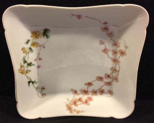 Charles Field Haviland Limoges Dessert Plate 8 Inch Circa 1880 Botanical Floral