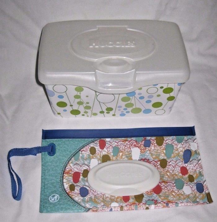 Huggies Clutch n Clean + Wipes Container NEW