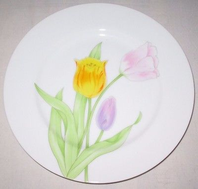 13 Fitz And Floyd Trois Tulipes Fine Porcelain Plates