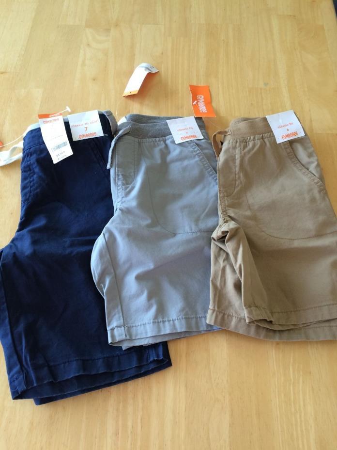 NWT Gymboree Boy shorts Elastic Waist Shorts SZ 7 Gray or navy blue