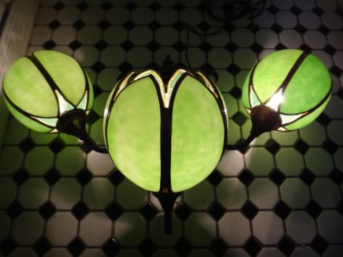 12 Gold Gilt Slag Glass Sconces Handel Tulip Shade HIlltop Steak House Saugus MA
