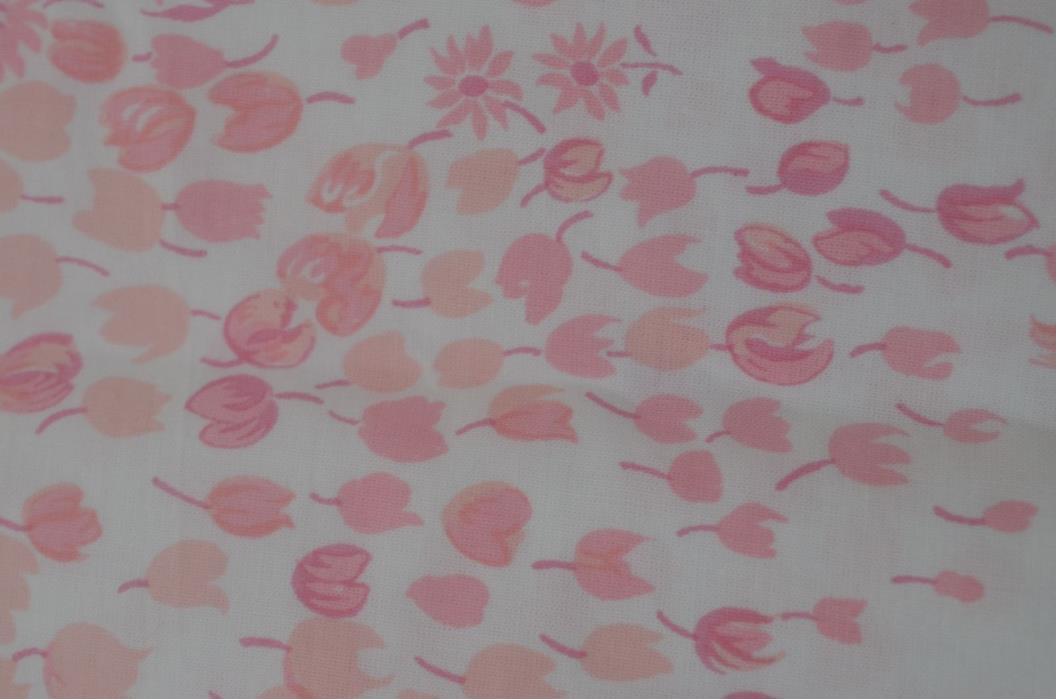 MARVELOUS PORTHAULT FABRIC WITH PINK TULIPS SS803