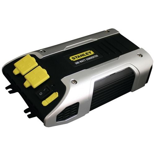 Stanley 500-Watt Power Converter 2 Grounded AC OUtlets and 1 USB Outlet New
