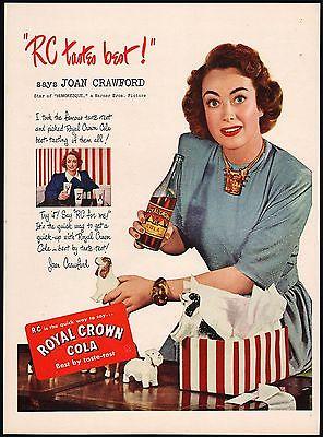 Vintage magazine ad ROYAL CROWN COLA Joan Crawford in Humoresque 1947 n-mint