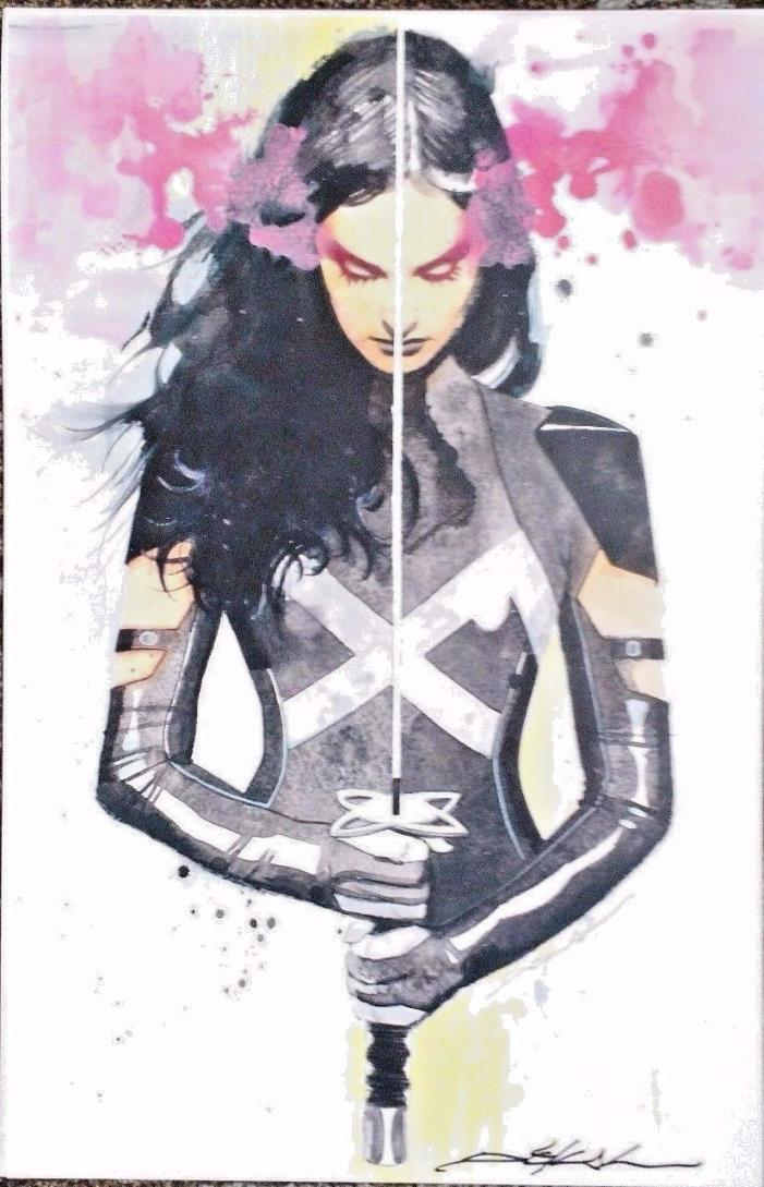 JEFF DEKAL PSYLOCKE ART PRINT SIGNED POSTER MARVEL COMICS X-MEN X-FORCE