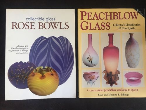Signed Johanna Billings & Sean Billings Books Softcover Rose Bowls & Peachblow